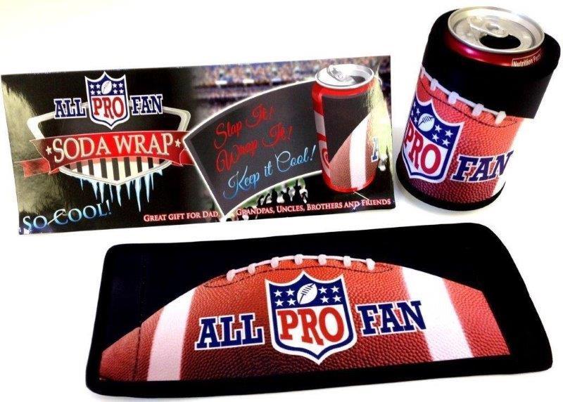 All Pro Fan Soda Wrap - Prizes for Guys - Prizes & Novelties