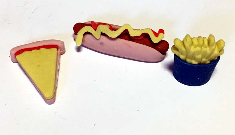 Fast Food Puzzle Eraser - Prizes For Boys & Girls - Prizes & Novelties