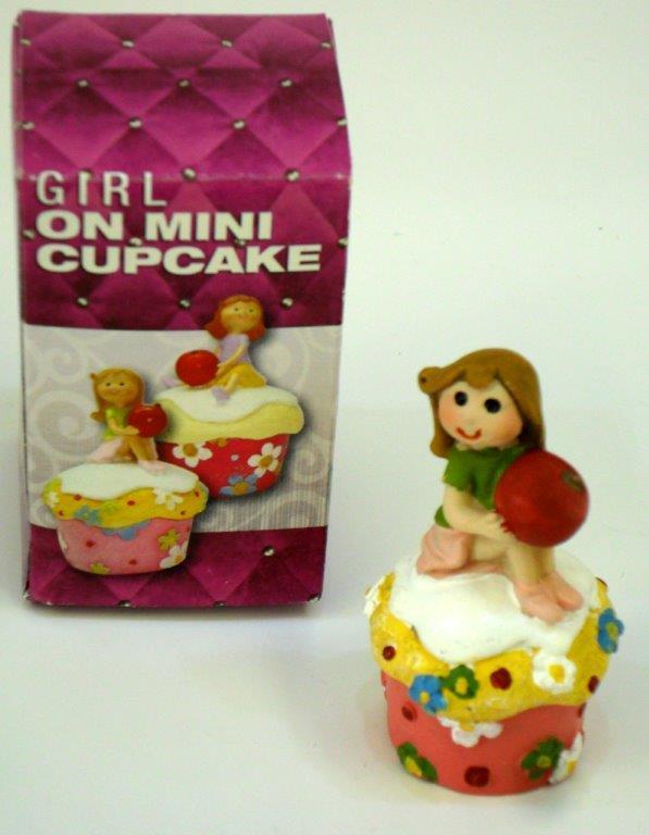Girl On Mini Cupcake Figure - Prizes for Ladies - Prizes & Novelties