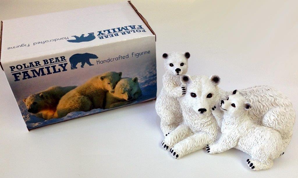 Polar Bear Family Figurine - Prizes for Ladies - Prizes & Novelties