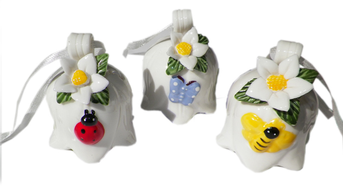 Floral Bell Ornament 2.5 Inch - Prizes for Ladies - Prizes & Novelties