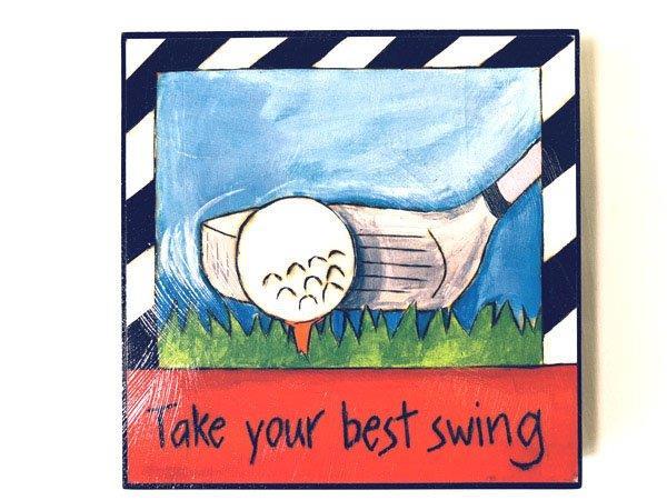 Inspirational Golf Plaque - Prizes for Guys - Prizes & Novelties
