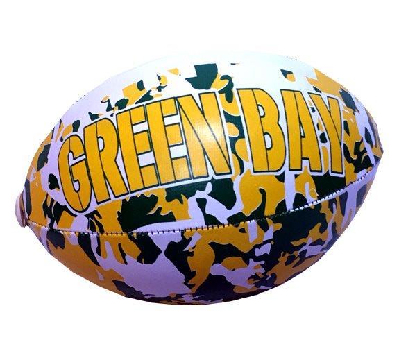 Green Bay Vinyl Camouflage Football - 6 Inch - Sports Team Logo Prizes - Prizes & Novelties