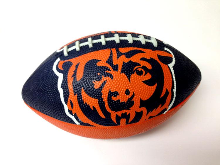 Chicago Bears NFL 7 in. Logo Football - Sports Team Logo Prizes - Prizes & Novelties