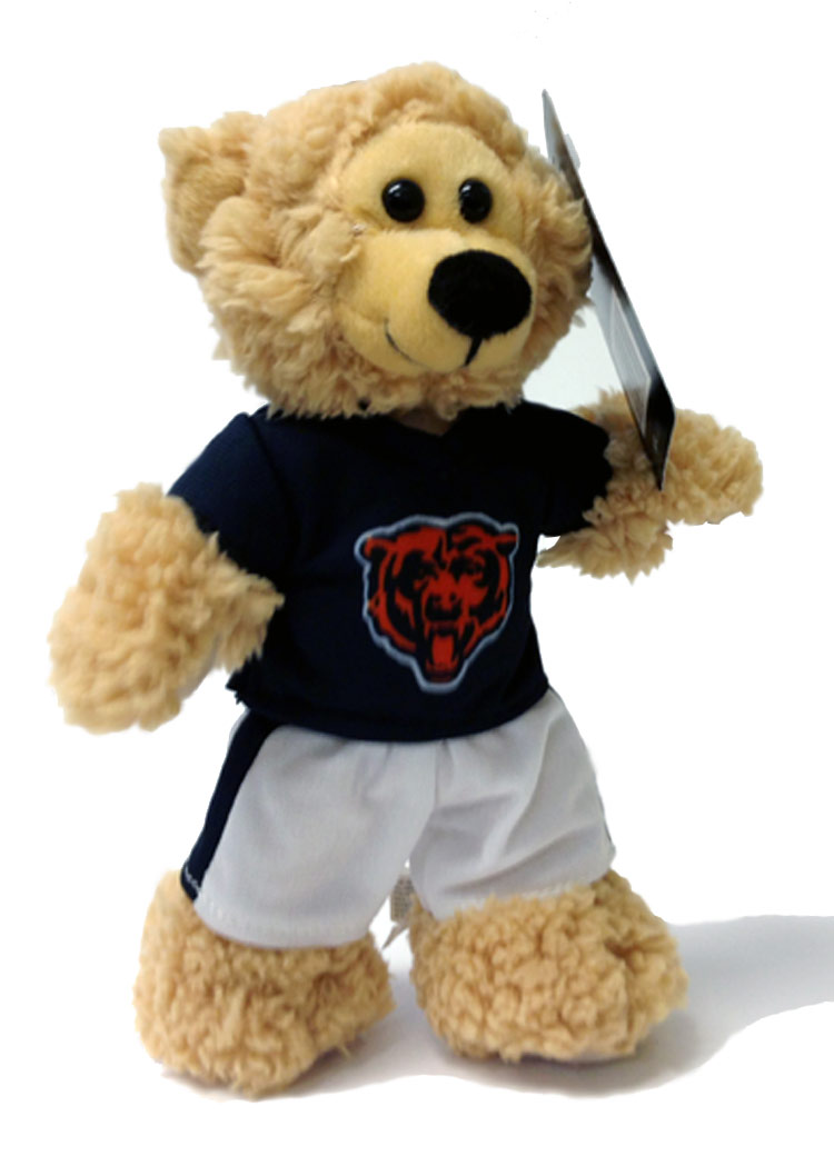 Chicago Bears Plush NFL Quarterback Bear - Sports Team Logo Prizes - Prizes & Novelties