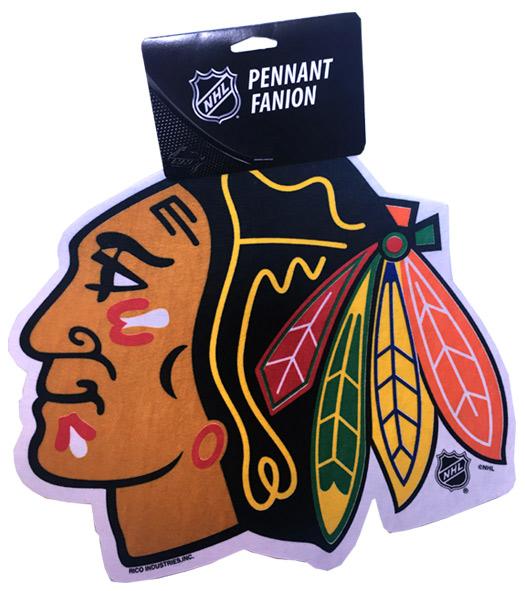 Blackhawks Die Cut Logo Pennant - Sports Team Logo Prizes - Prizes & Novelties