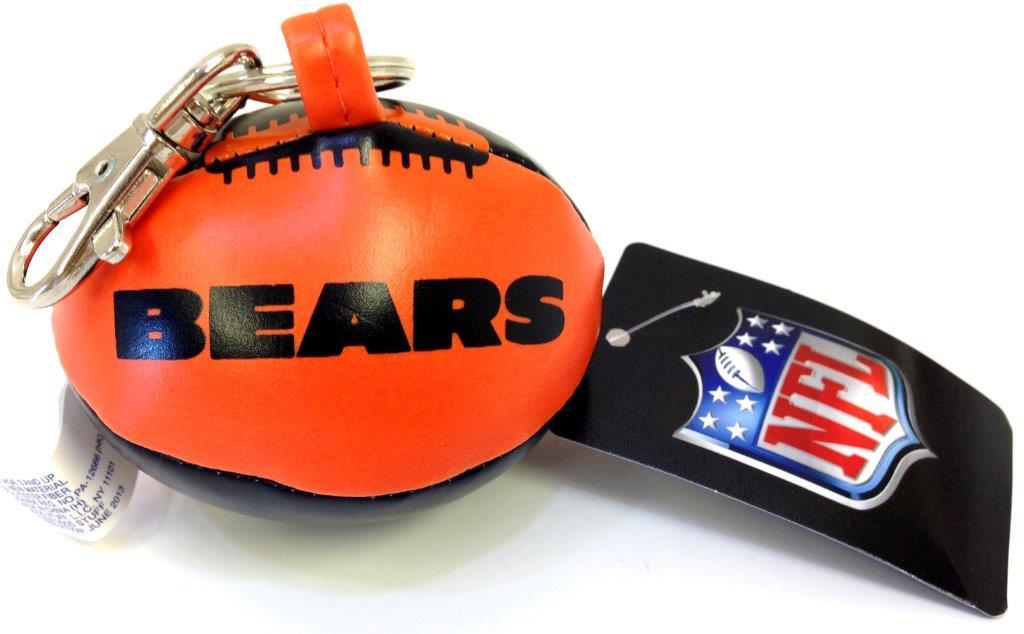 Vinyl Key Chain - Chicago Bears - Sports Team Logo Prizes - Prizes & Novelties