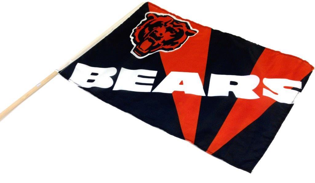 Team Flag on Stick - Bears - Sports Team Logo Prizes - Prizes & Novelties