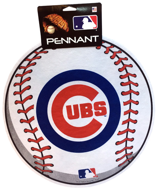 Chicago Cubs MLB Ball Pennant - Sports Team Logo Prizes - Prizes & Novelties