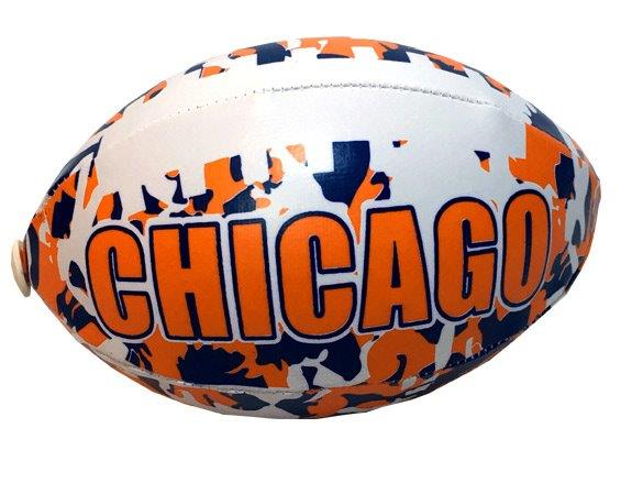 Chicago Camouflage Football - 6 Inch - Sports Team Logo Prizes - Prizes & Novelties