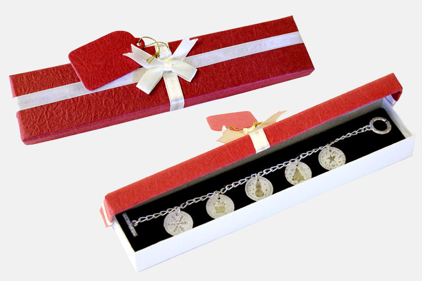 Christmas Charm Bracelet Red Box - Jewelry Novelties - Prizes & Novelties