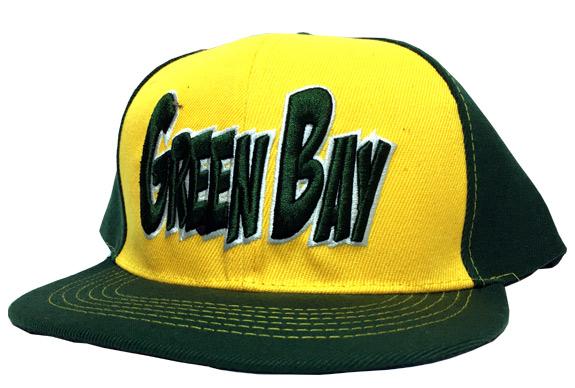 Green Bay City - Flat Brim Hat - Cap - Sports Team Logo Prizes - Prizes & Novelties