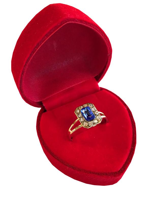 Cocktail Ring in Red Velvet Heart Box - Jewelry Novelties - Prizes & Novelties