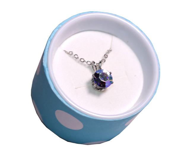 Crystal Necklace in Polka Dot Box - Jewelry Novelties - Prizes & Novelties