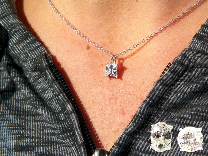 Genuine Cubic Zirconia Pendant in Blue Box - Jewelry Novelties - Prizes & Novelties