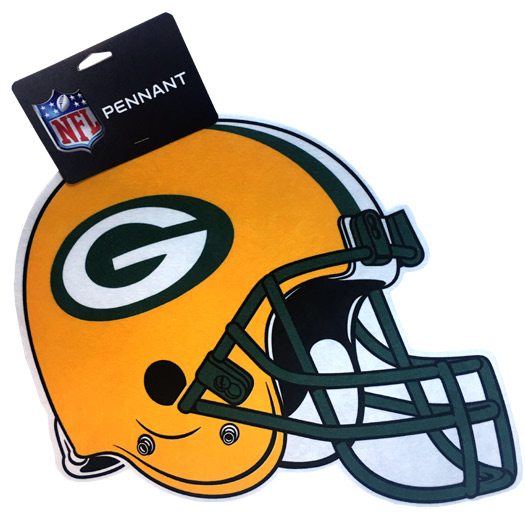 Green Bay Packers Team Helmet Pennant - Sports Team Logo Prizes - Prizes & Novelties