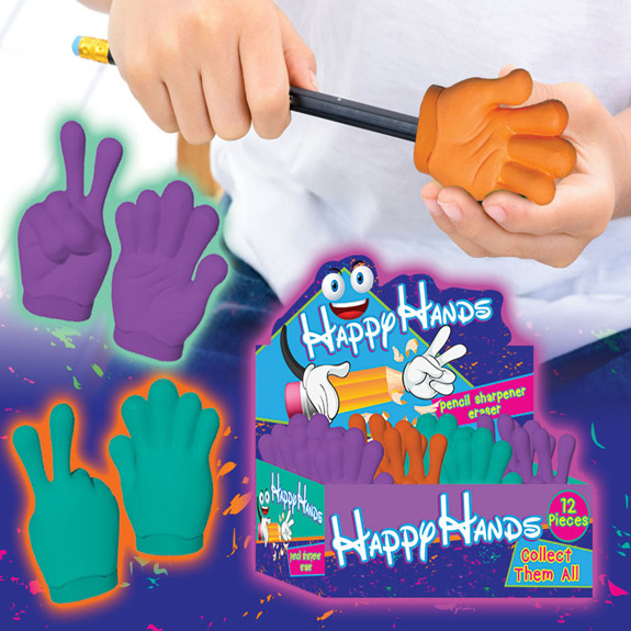 Happy Hands Pencil Sharpener Eraser