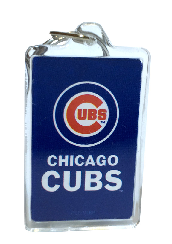 Chicago Cubs MLB Acrylic Keychain - Sports Team Logo Prizes - Prizes & Novelties