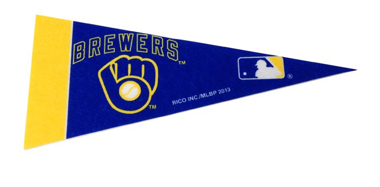 Milwaukee Brewers Mini Pennant - Sports Team Logo Prizes - Prizes & Novelties