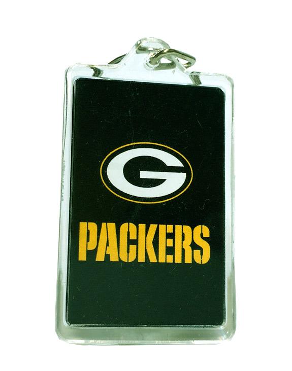Green Bay Packers Acrylic Key Chain - Sports Team Logo Prizes - Prizes & Novelties