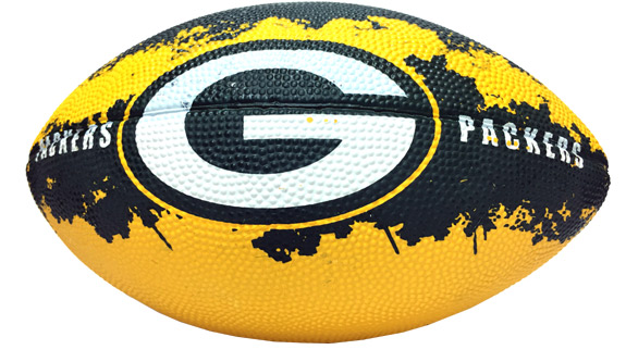 Green Bay Packers - 7 In. NFL Action Football - Sports Team Logo Prizes - Prizes & Novelties
