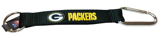 Green Bay Packers NFL Carabiner Key Chain - Sports Team Logo Prizes - Prizes & Novelties