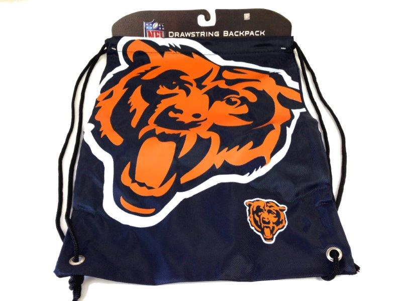 NFL Drawstring Backpack - Bears - Sports Team Logo Prizes - Prizes & Novelties