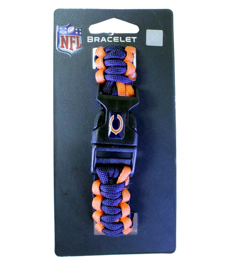 Chicago Bears NFL Survivor Bracelet - Sports Team Logo Prizes - Prizes & Novelties