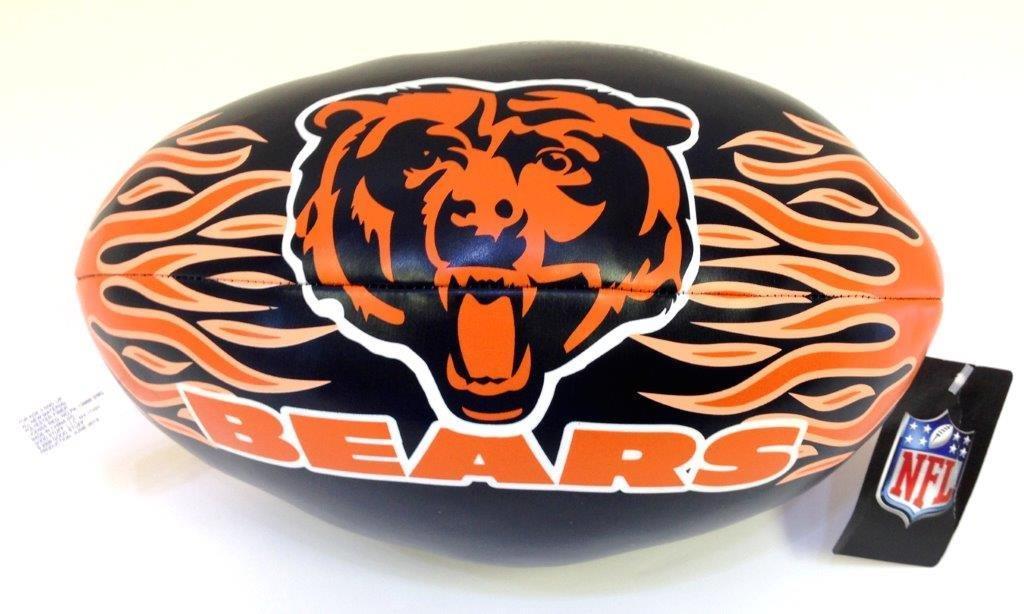 9 In. NFL Vinyl Football - Bears - Sports Team Logo Prizes - Prizes & Novelties
