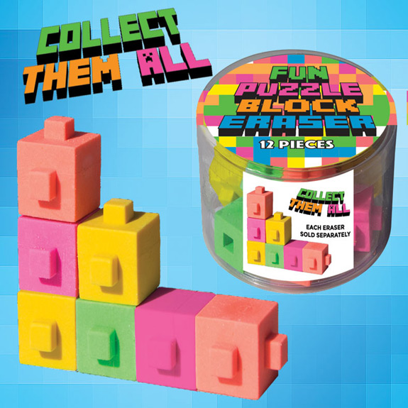 Fun Puzzle Block Eraser (each)