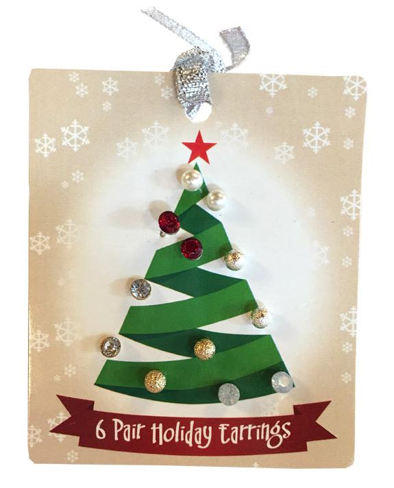 Set of 6 Stud Holiday Earrings - Jewelry Novelties - Prizes & Novelties