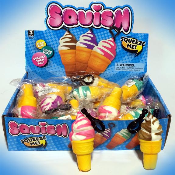 4'' Squish Ice Cream Cone Clip-On
