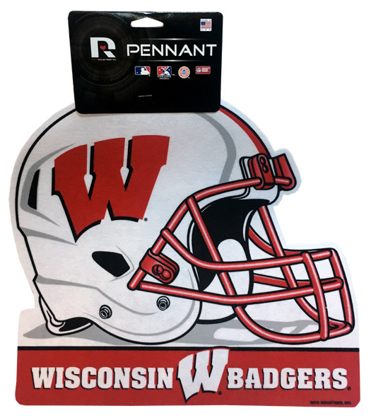 Wisconsin Badgers Helmet Pennant - Sports Team Logo Prizes - Prizes & Novelties