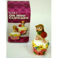 Girl On Mini Cupcake Figure - Prizes for Ladies - Prizes & Novelties