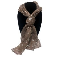 Tan Snowflake Designer Scarf - Prizes for Ladies - Prizes & Novelties