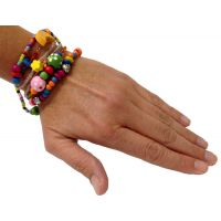 Set of 5 - Beadtastic Bead Bracelet Multi Charm - Jewelry Novelties - Prizes & Novelties