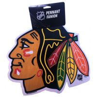 Blackhawks Die Cut Logo Pennant - Sports Team Logo Prizes - Prizes & Novelties