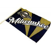 Team Flag on Stick - Brewers - Sports Team Logo Prizes - Prizes & Novelties