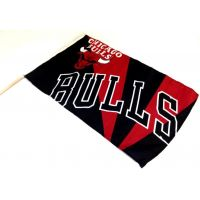 Team Flag on Stick - Bulls - Sports Team Logo Prizes - Prizes & Novelties