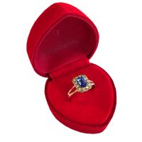 Cocktail Ring in Red Velvet Heart Box - Jewelry Novelties - Prizes & Novelties