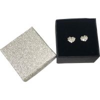 Crystal Heart Earrings In Gift Box - Jewelry Novelties - Prizes & Novelties