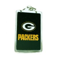 Green Bay Packers Acrylic Key Chain - Sports Team Logo Prizes - Prizes & Novelties
