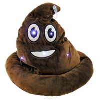 Light Up Emoticon Poo Hat - Prizes For Boys & Girls - Prizes & Novelties