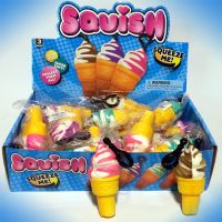 4'' Squish Ice Cream Cone Clip-On