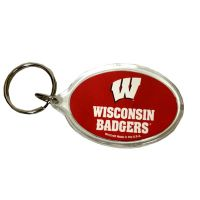 Wisconsin Badgers Key Chain - Acrylic - Sports Team Logo Prizes - Prizes & Novelties