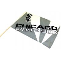 Team Flag on Stick - White Sox - Sports Team Logo Prizes - Prizes & Novelties